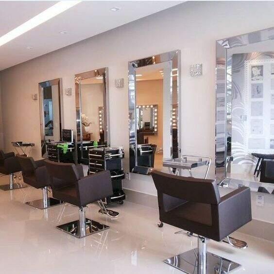 Decoração para salão de beleza: Espelhos
