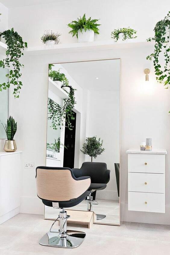 Decoração para salão de beleza: Plantas